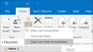 Folder Clean-up